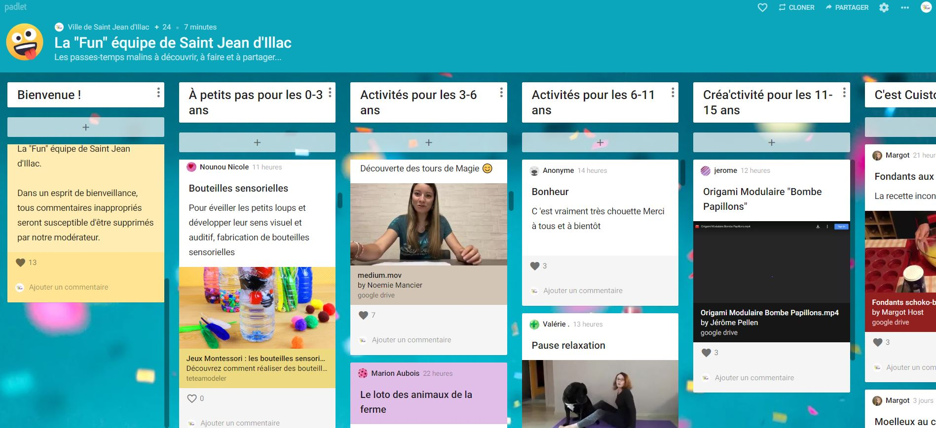 Padlet Page accueil